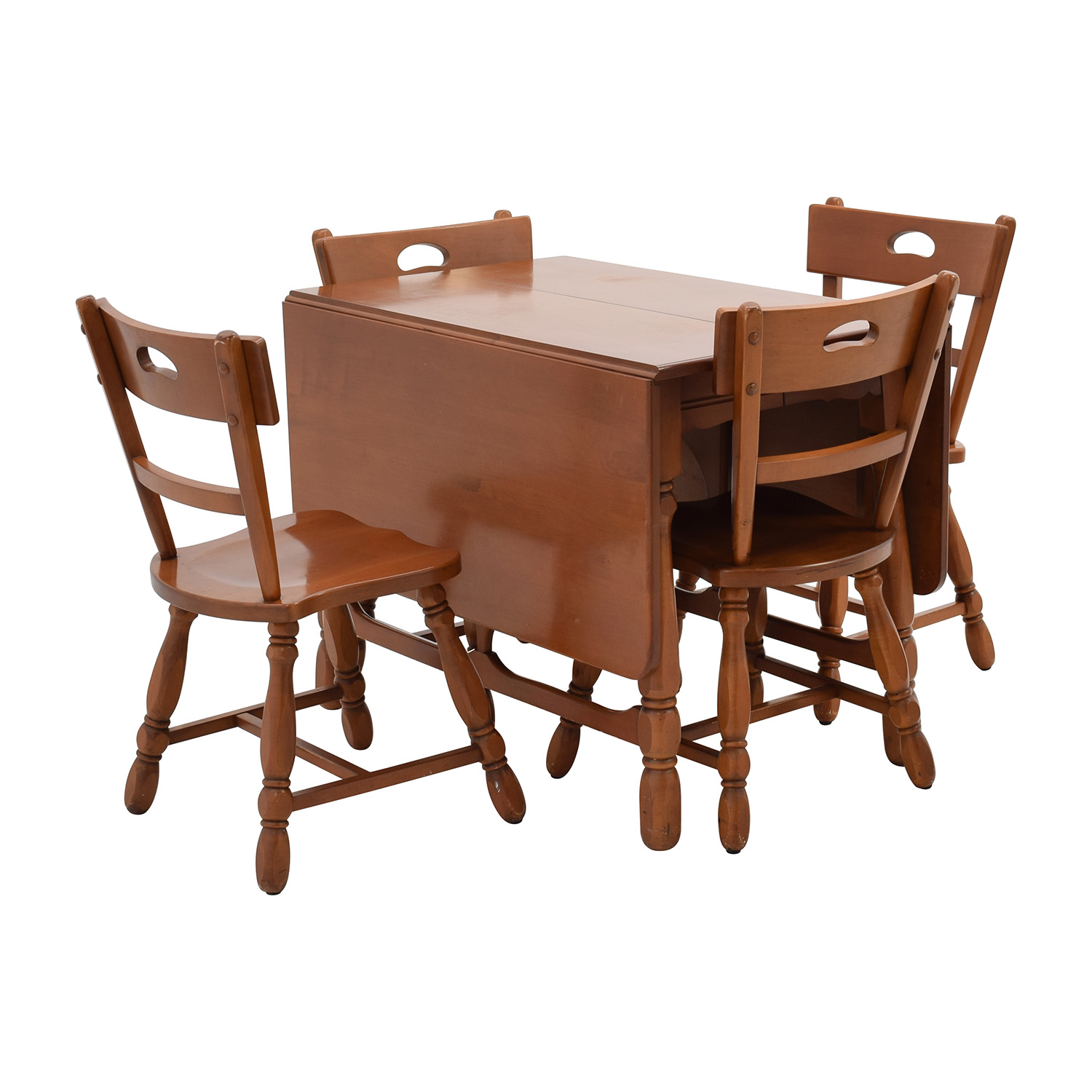 Tables Chairs For Sale: Maple Dining Table With Four Matching Chairs