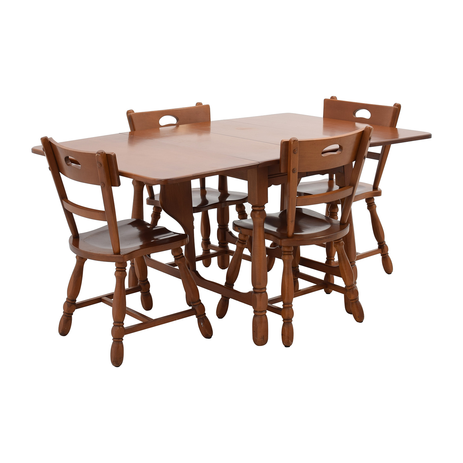 83 Off Maple Dining Table With Four Matching Chairs