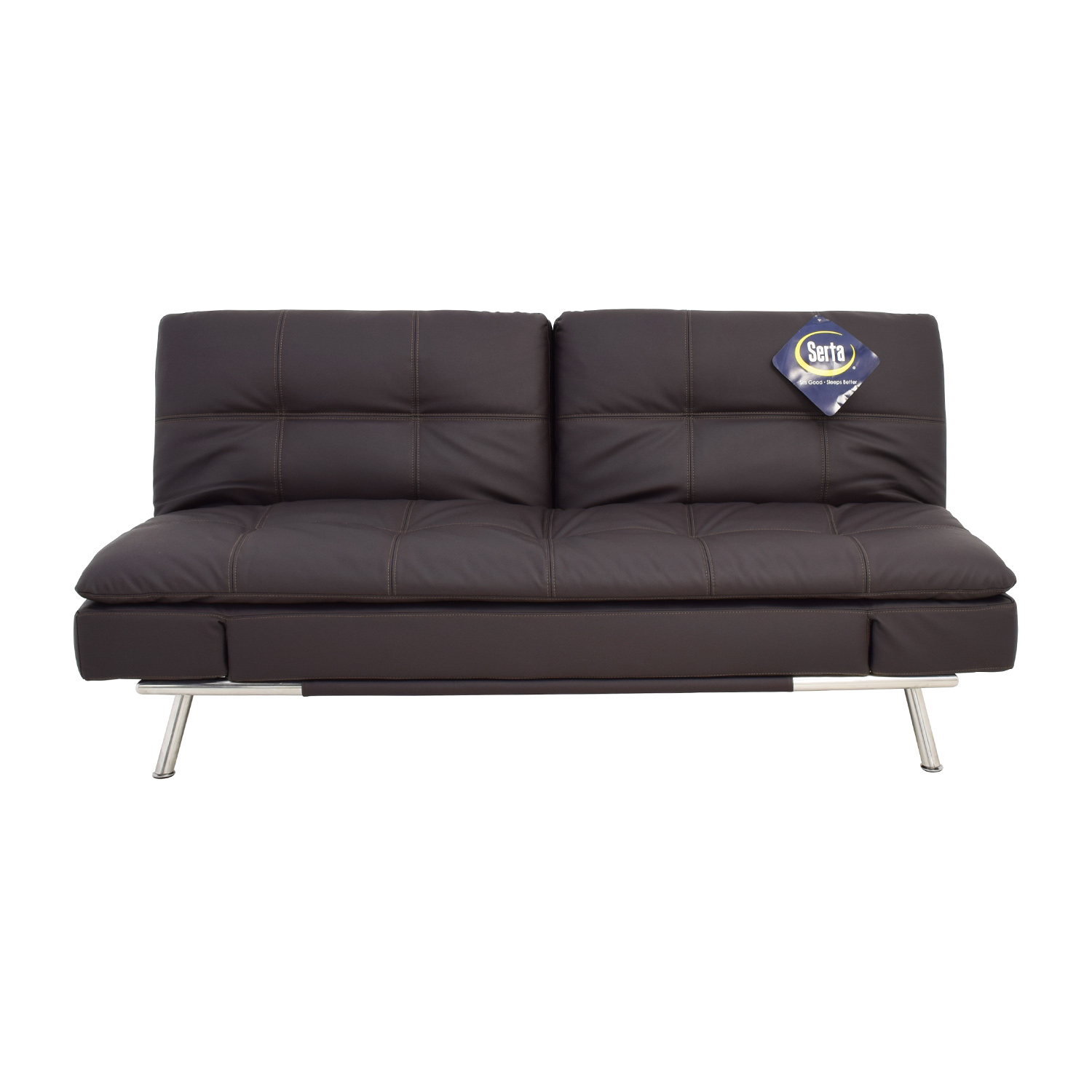 shop Lifestyle Solutions Serta Matrix Leather Sleeper Sofa Lifestyle Solutions Serta