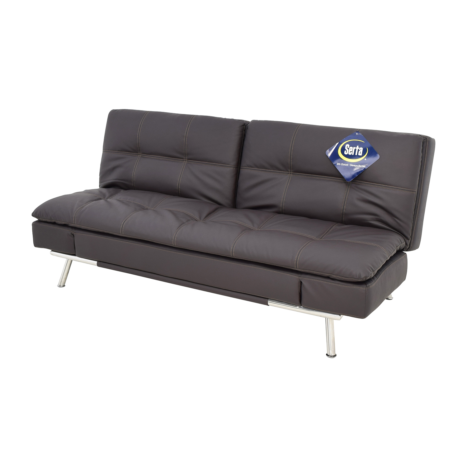 43% OFF   Lifestyle Solutions Lifestyle Solutions Serta Matrix Leather  Sleeper Sofa / Sofas