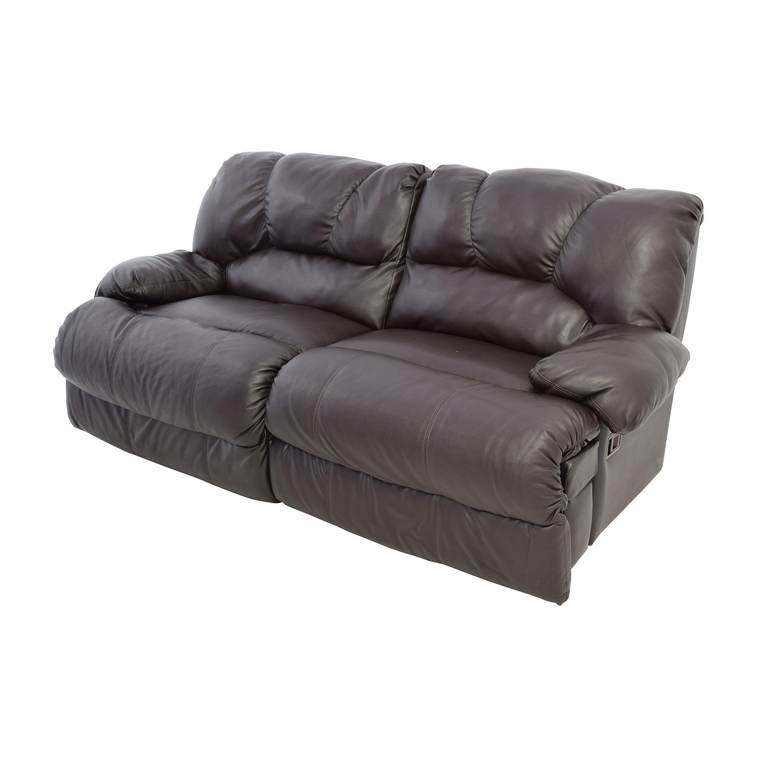 Nebraska Furniture Mart Reclining Brown Leather Couch sale