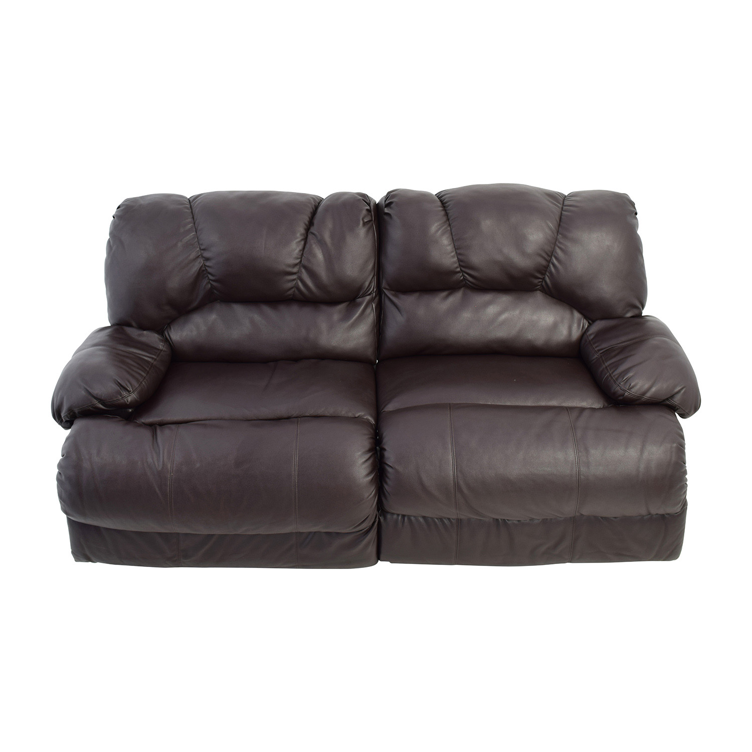 Nebraska Furniture Mart Reclining Brown Leather Couch / Classic Sofas
