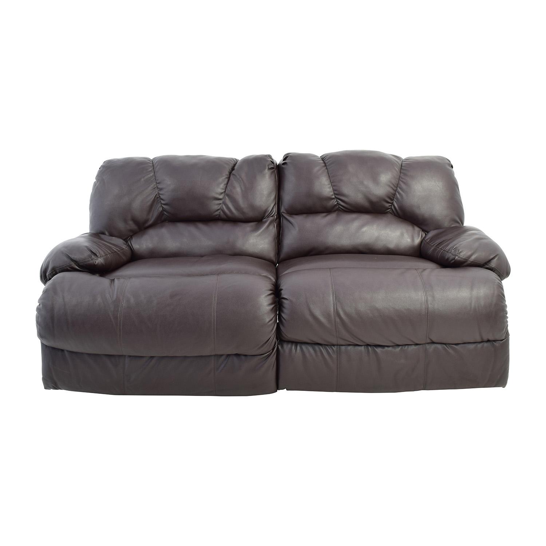 buy Nebraska Furniture Mart Reclining Brown Leather Couch Nebraska Furniture Mart Sofas