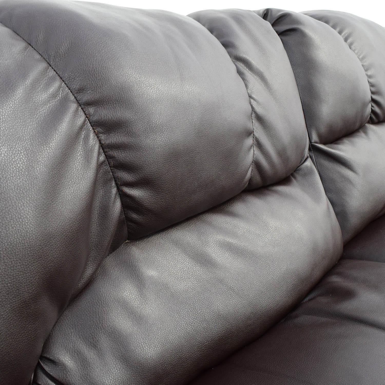 buy Nebraska Furniture Mart Nebraska Furniture Mart Reclining Brown Leather Couch online
