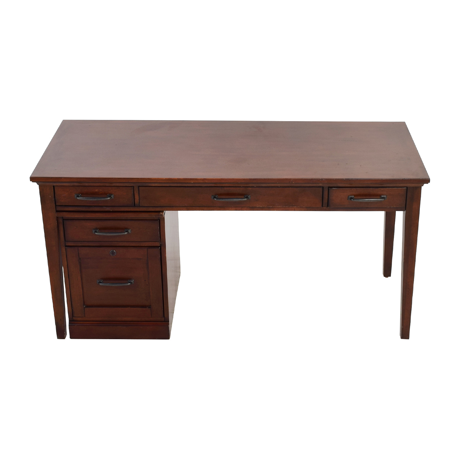 Nebraska Furniture Mart Nebraska Furniture Mart Desk and Rolling File Cabinet Brown