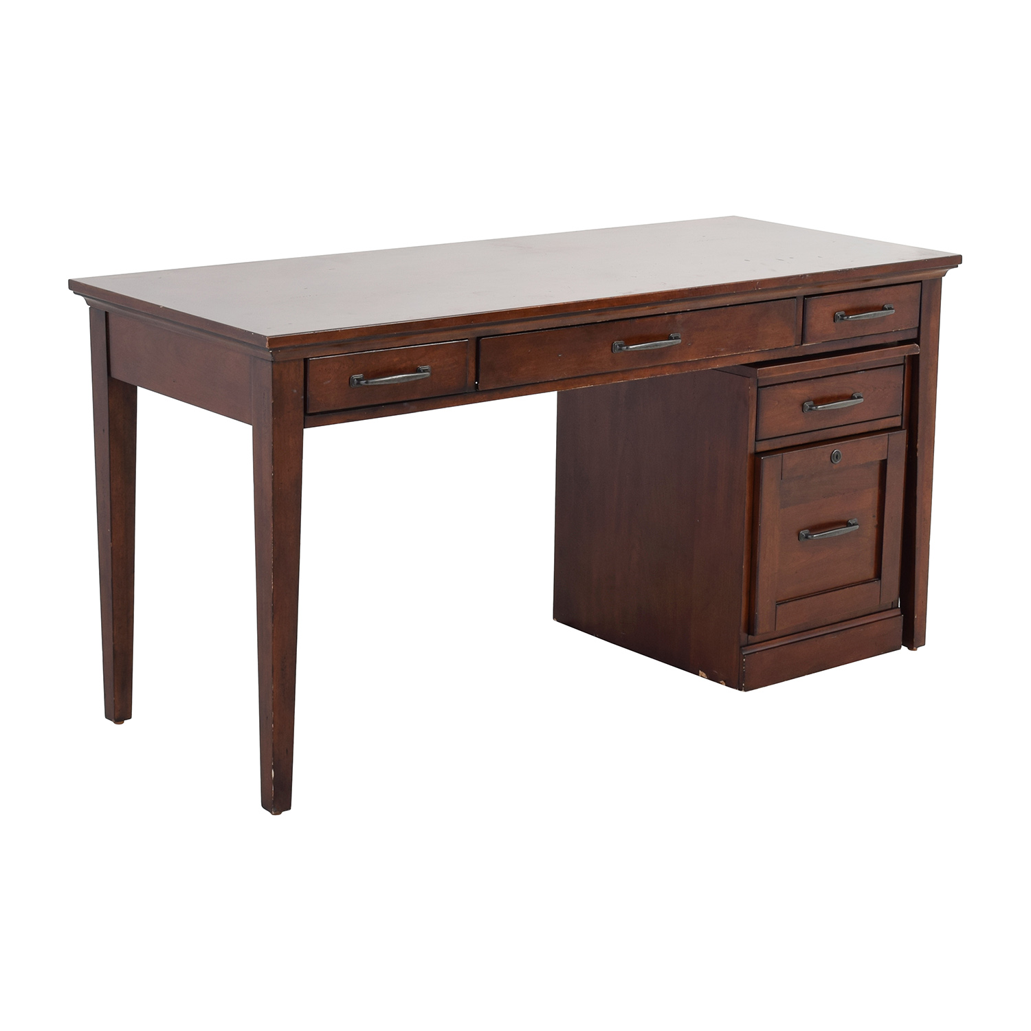 Nebraska Furniture Mart Desk And Rolling File Cabinet Used