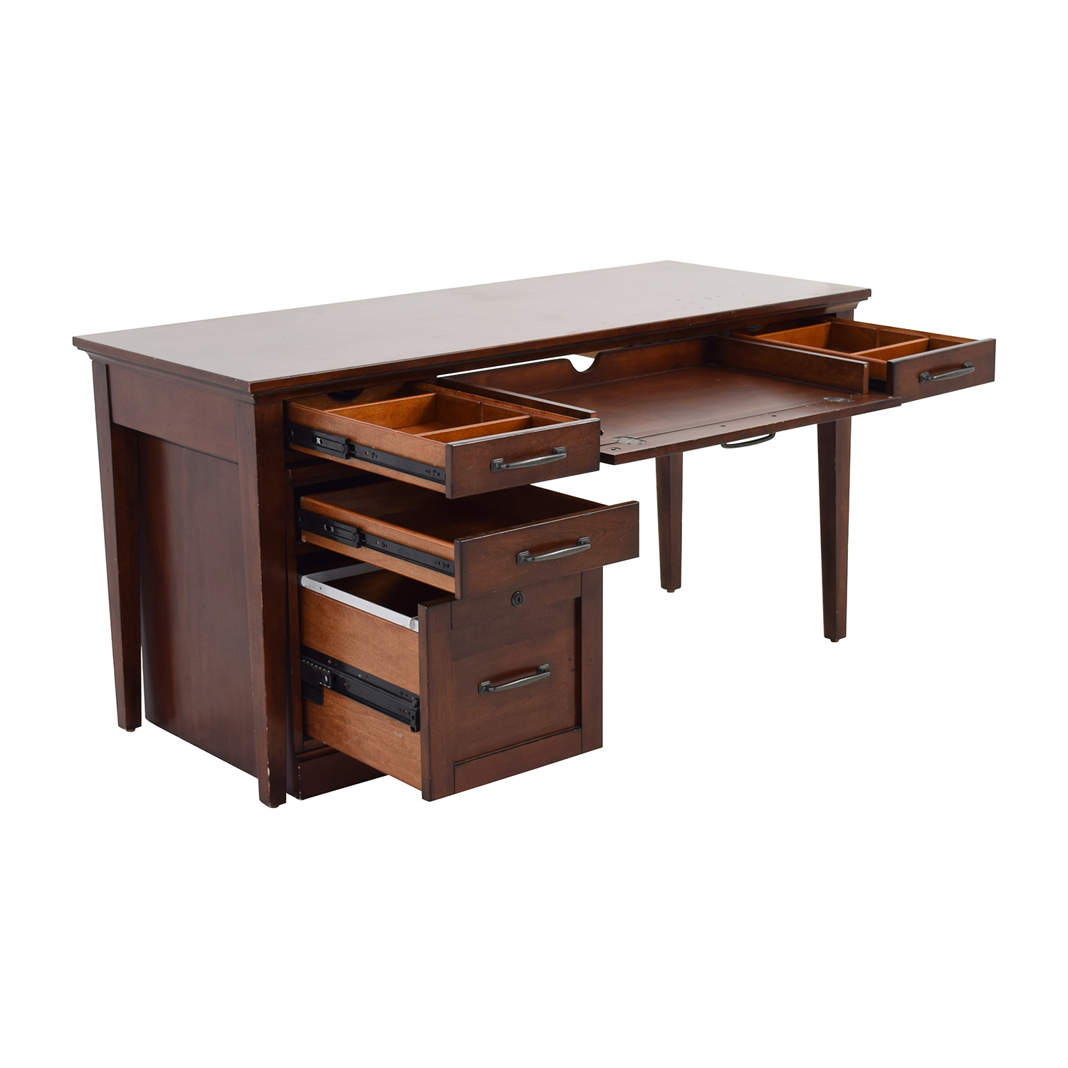 82 Off Nebraska Furniture Mart Nebraska Furniture Mart Desk And Rolling File Cabinet Tables