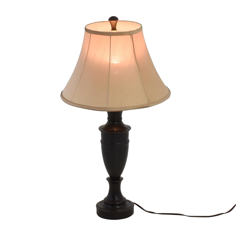 Nebraska Furniture Mart Brown Metal Lamp sale