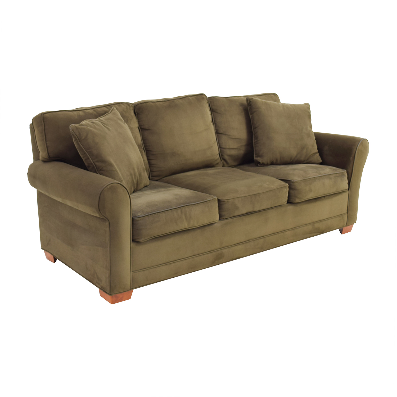 87 Off Raymour And Flanigan Raymour Flanagan Fresno Brown Microfiber Sofa Sofas