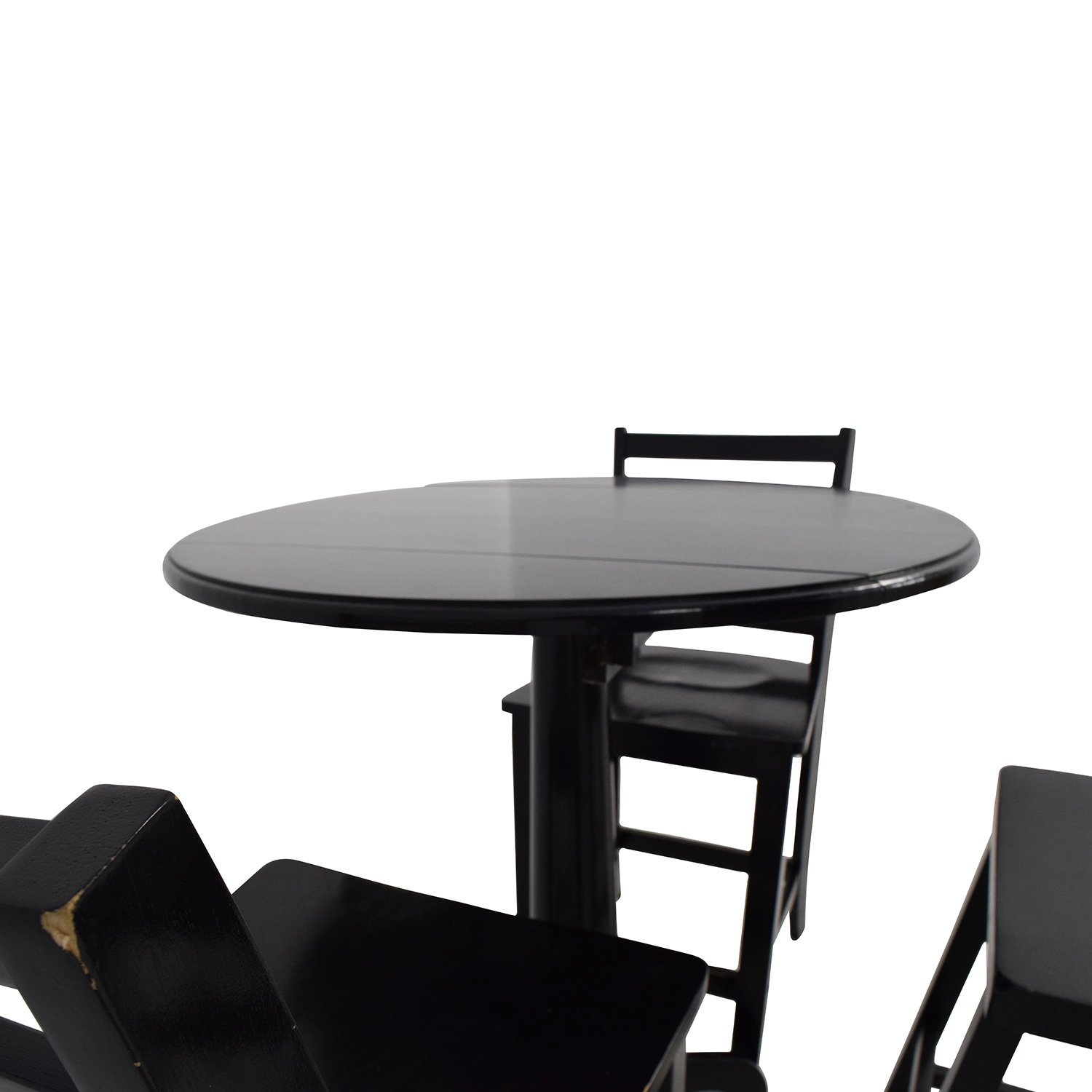 ... Shop Counter Black Round Table With Chairs And Stool Dining Sets ...