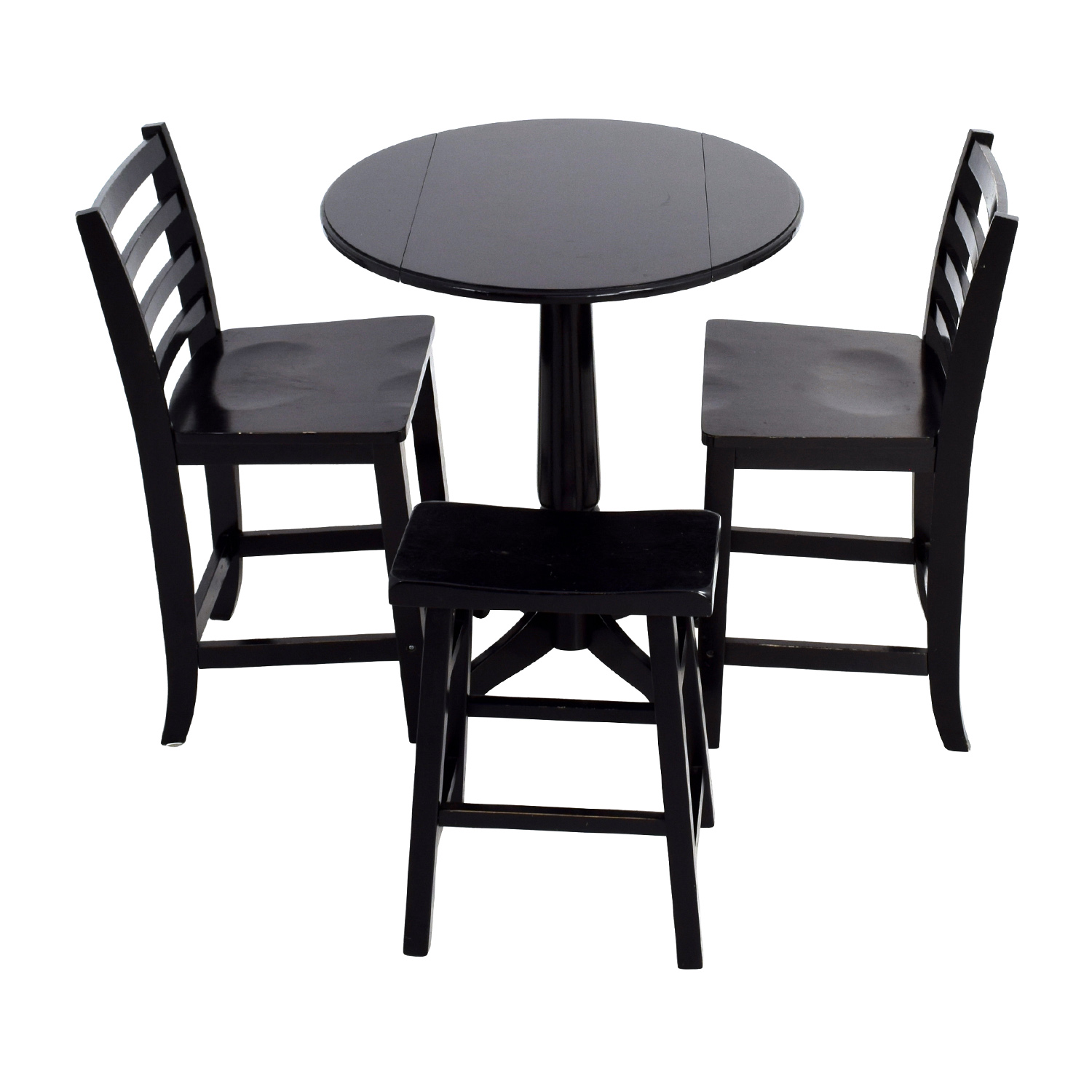 Counter Black Round Table With Chairs And Stool