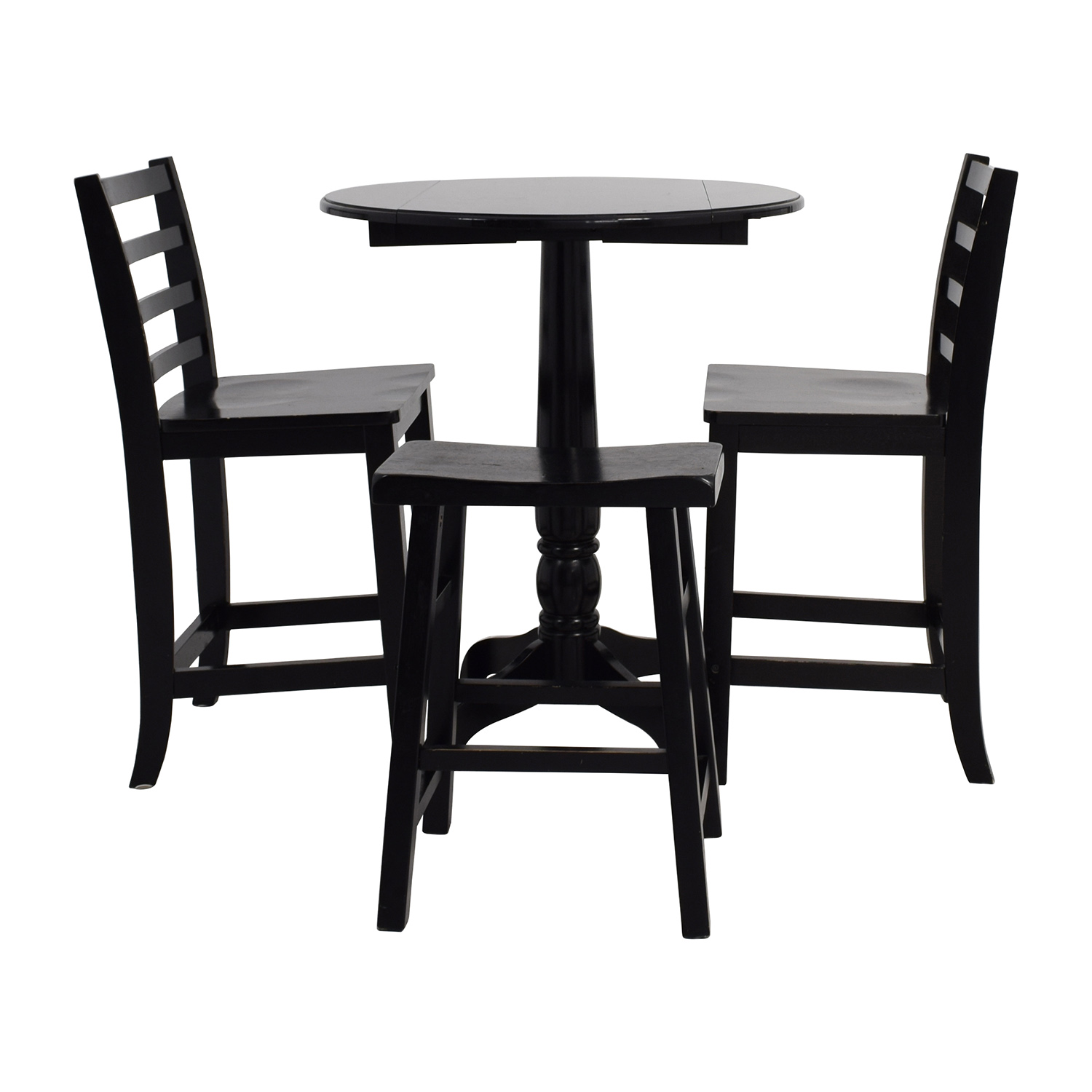 Round Table With Stools: Counter Black Round Table With Chairs And Stool