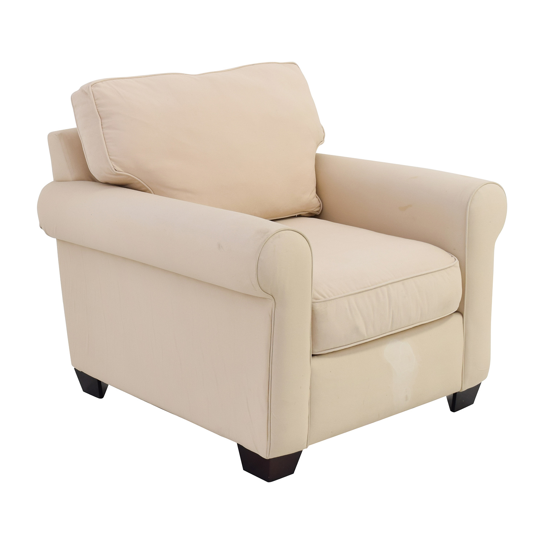 88% OFF Pottery Barn Pottery Barn Buchanan Roll Arm Arm Chair