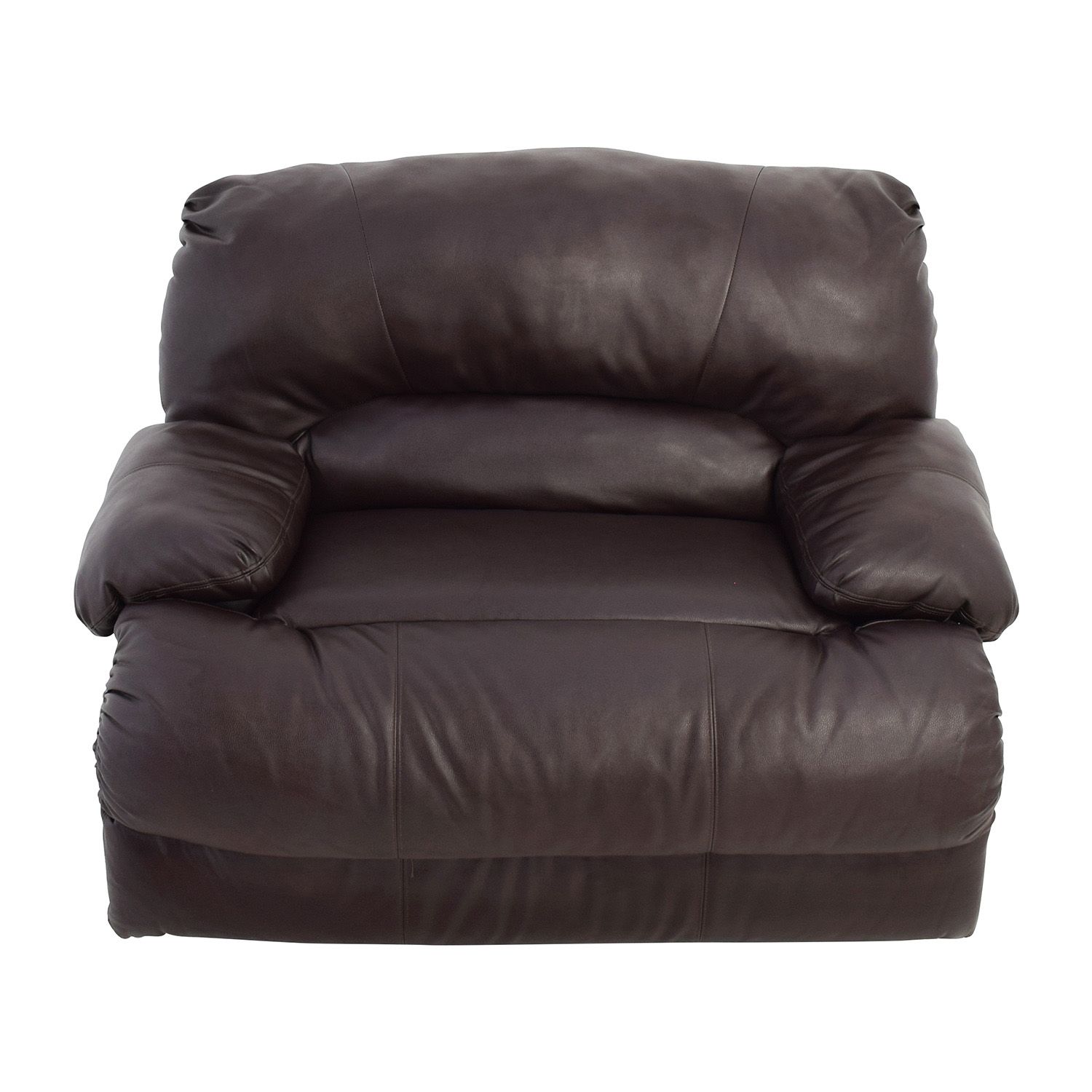 shop Brown Leather Reclining Loveseat Loveseats