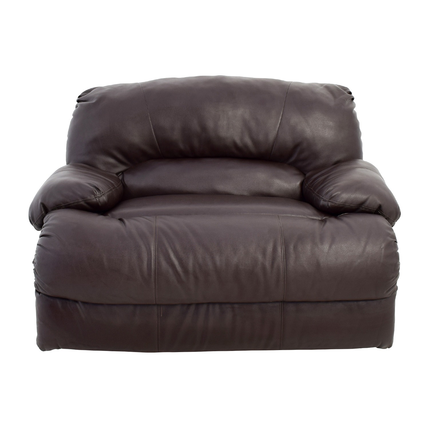 Brown Leather Reclining Loveseat for sale