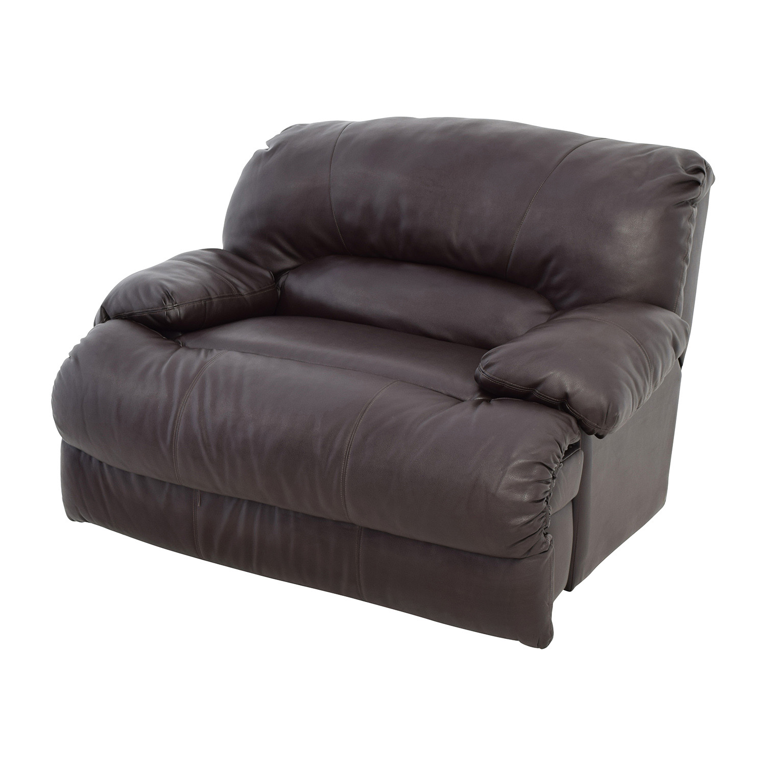 68 Off Brown Leather Reclining Loveseat Sofas