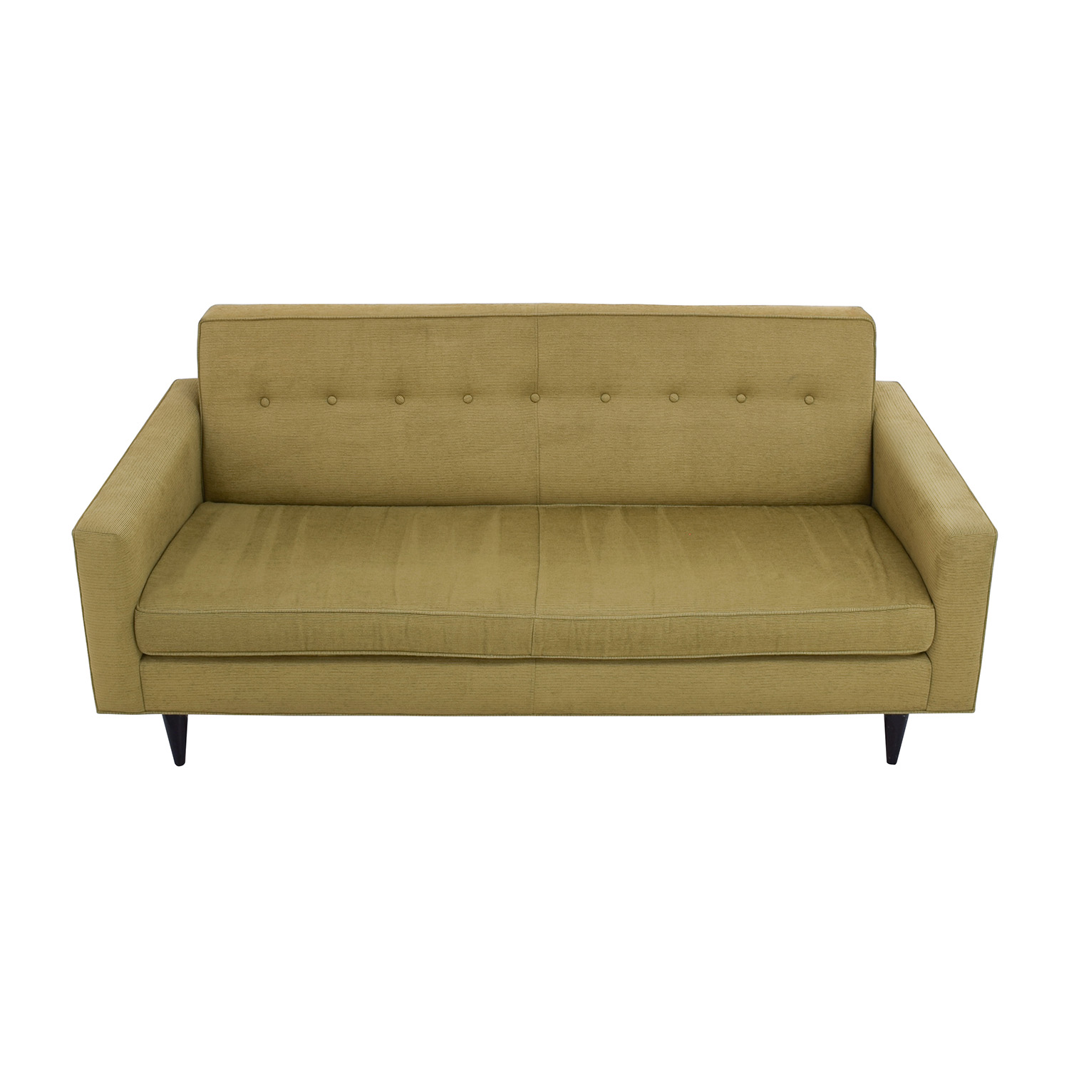 59 Off Design Within Reach Bantam Tufted Green Sofa Sofas