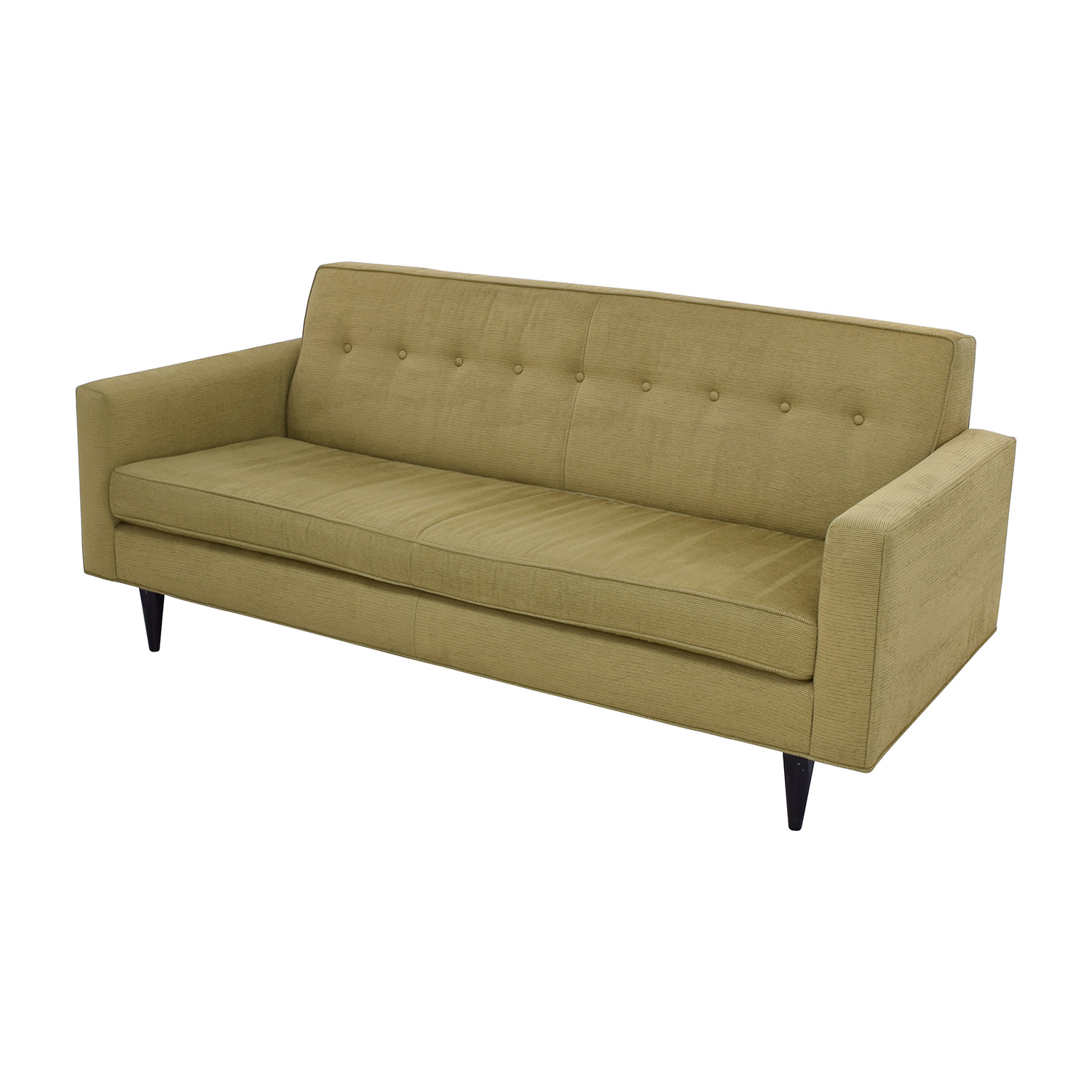 59 Off Design Within Reach Design Within Reach Bantam Tufted Green Sofa Sofas