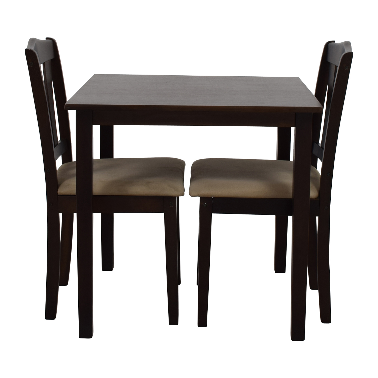 buy  Wood Dining Table and Beige Upholstered Chairs online