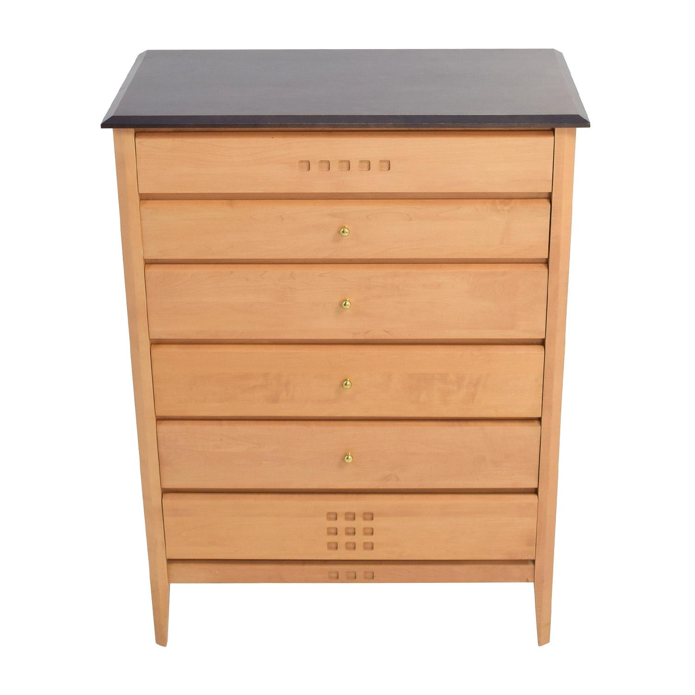 buy Baronet Ungava Wood and Ebony Six-Drawer Dresser Baronet of Canada