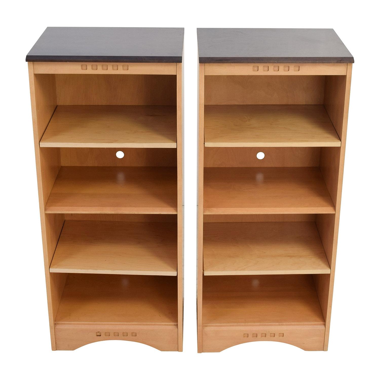 Baronet Ungava Wood and Ebony Bookshelves Baronet of Canada