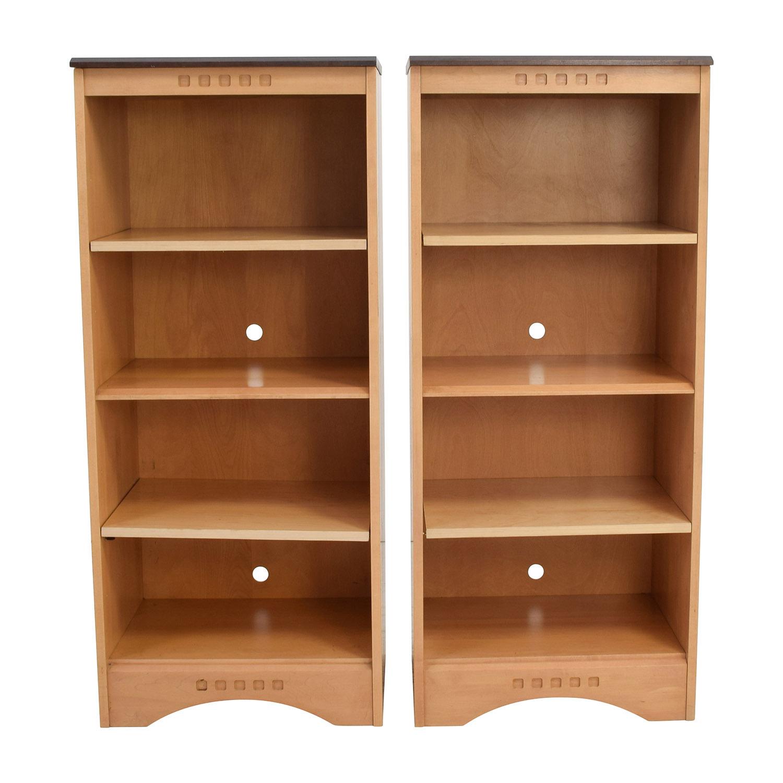 Baronet of Canada Baronet Ungava Wood and Ebony Bookshelves dimensions