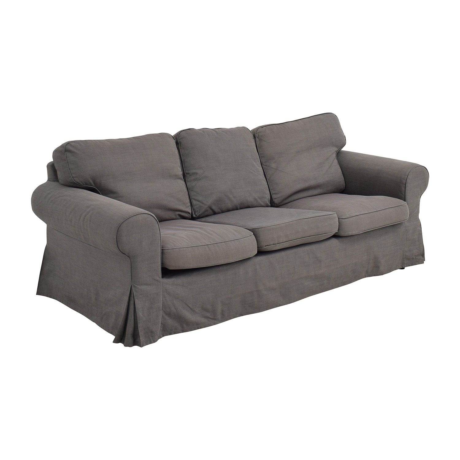 53 off ikea ikea ektorp grey skirted sofa sofas for Ikea gray sofa