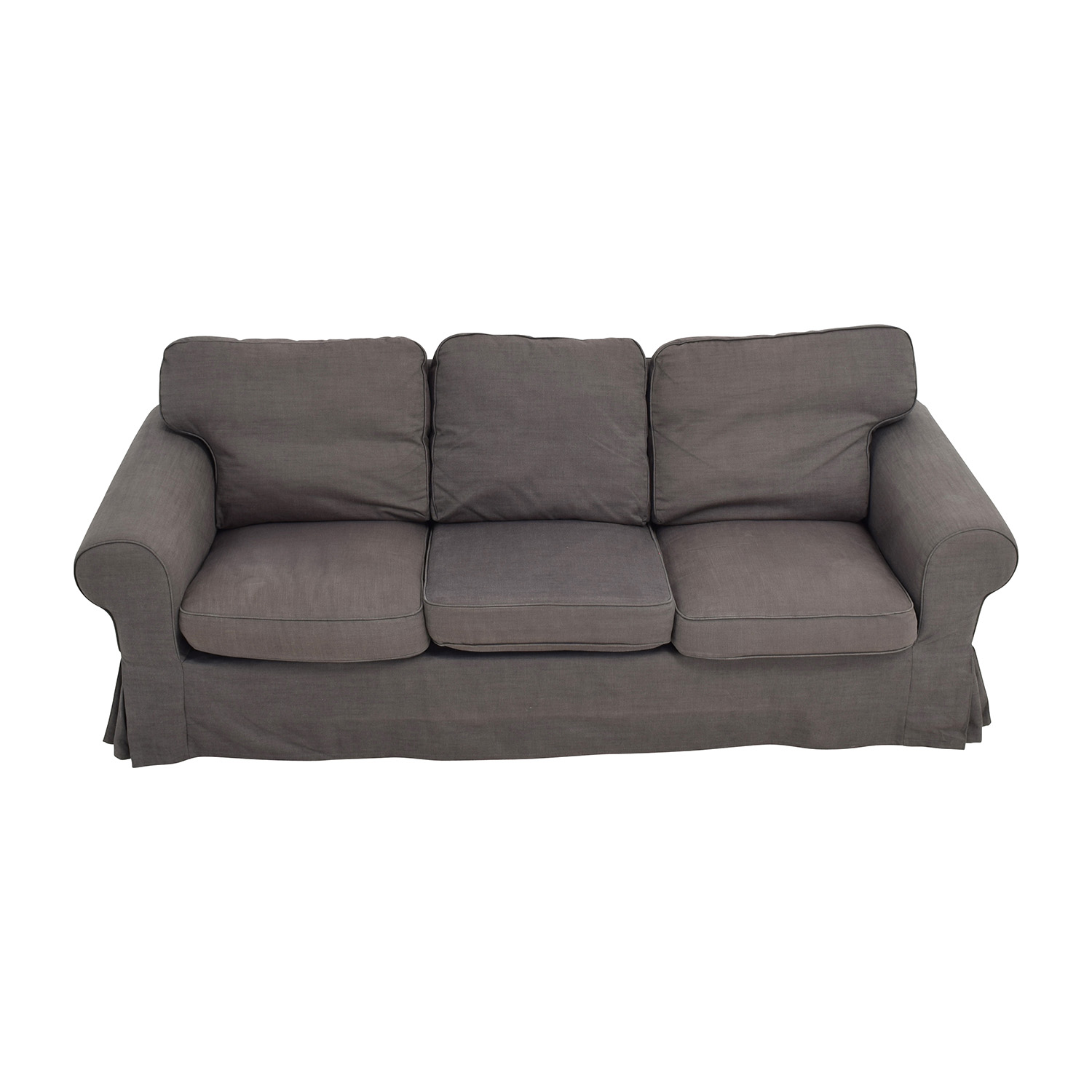shop IKEA Ektorp Grey Skirted Sofa IKEA