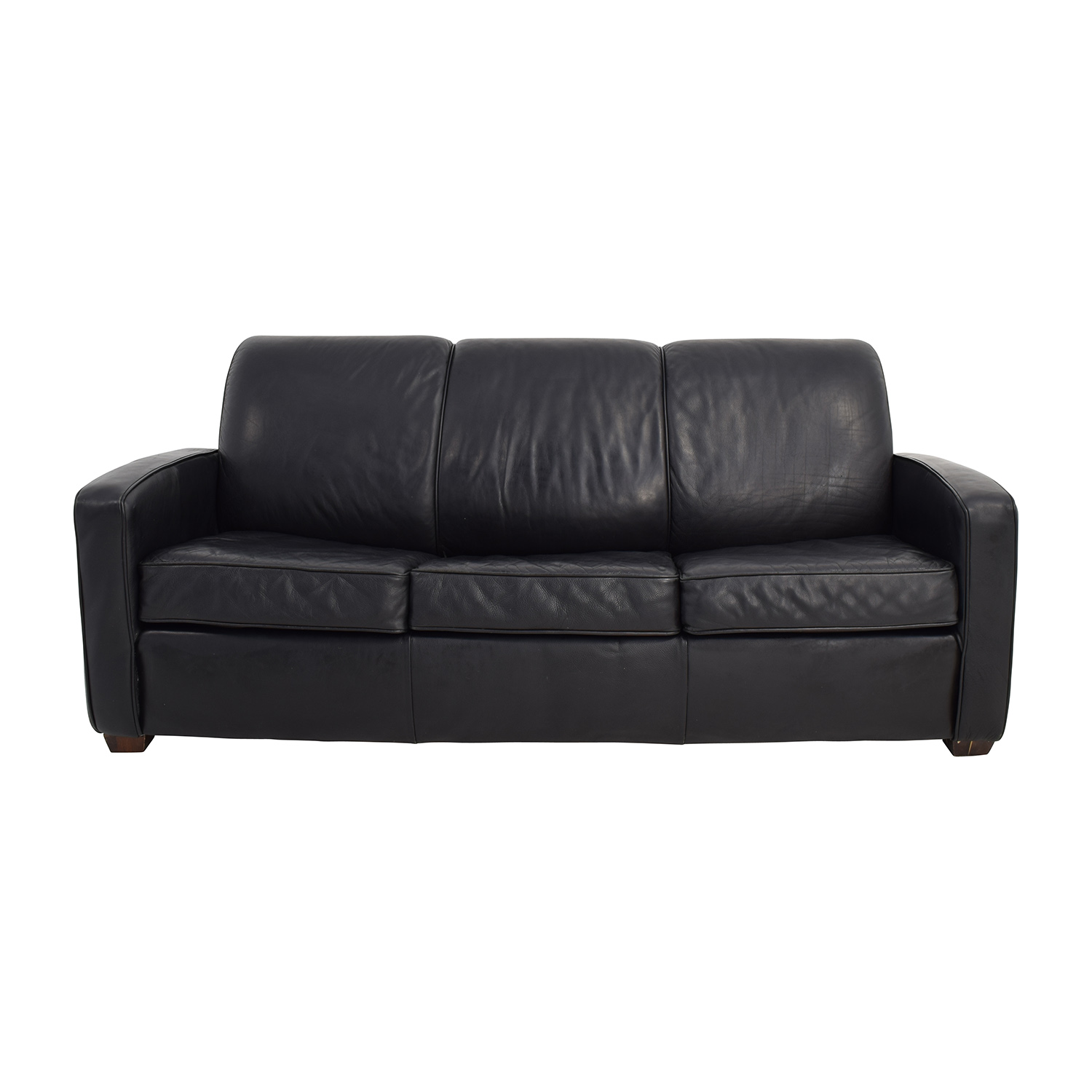 Leggett And Platt Leggett U0026 Platt Black Leather Sofa Bed Black ...