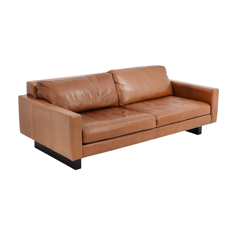 66 off room board room board 79 hess leather sofa. Black Bedroom Furniture Sets. Home Design Ideas