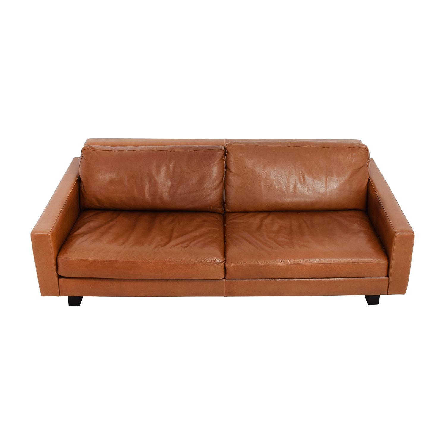 Used leather sofa used rh leather sofa thesofa for Used leather sofa set