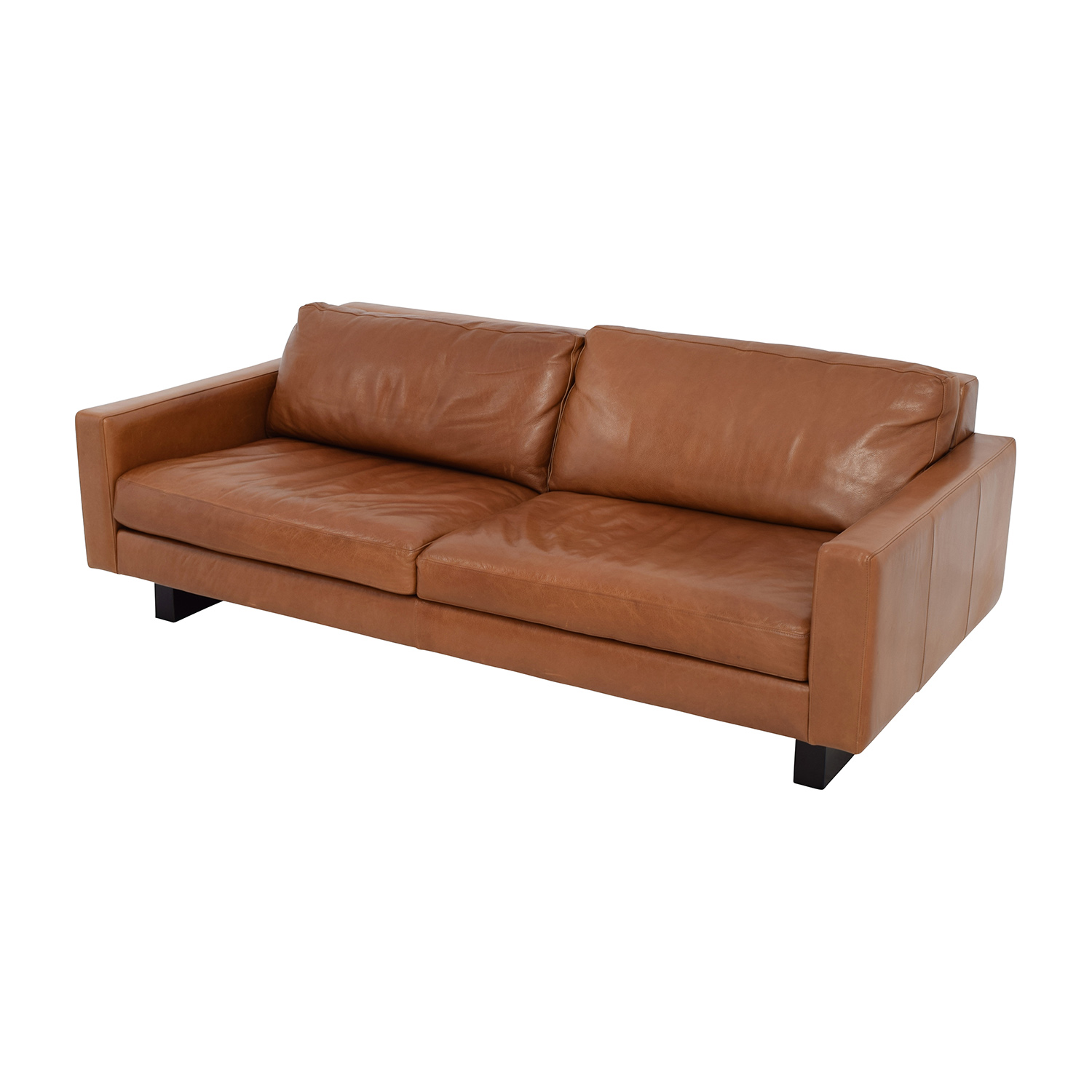 "Room & Board Room & Board 79"" Hess Leather Sofa"
