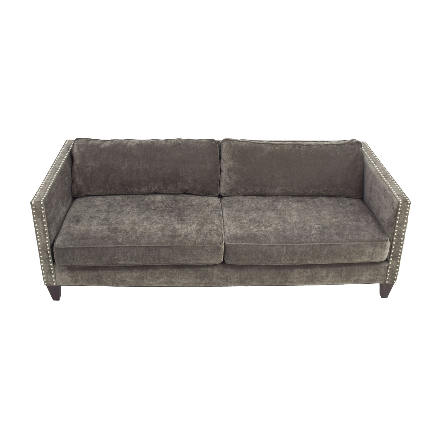 buy Rowe Furniture Mitchell Grey Studded Sofa Rowe Furniture Classic Sofas
