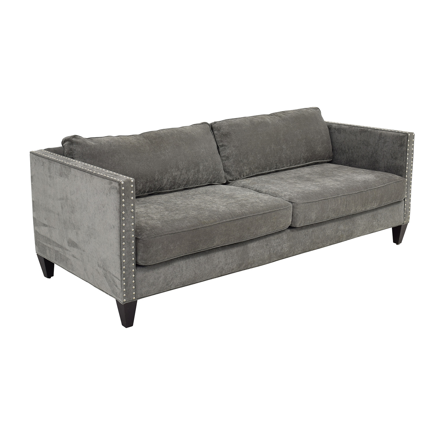 67 Off Rowe Rowe Mitchell Silver Studded Sofa Sofas