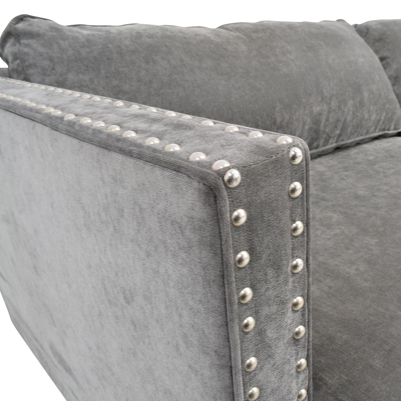 Rowe Mitc Silver Studded Sofa