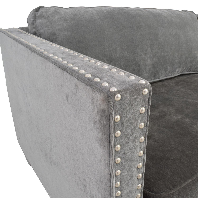 81% OFF Rowe Furniture Rowe Furniture Mitchell Grey Studded Sofa