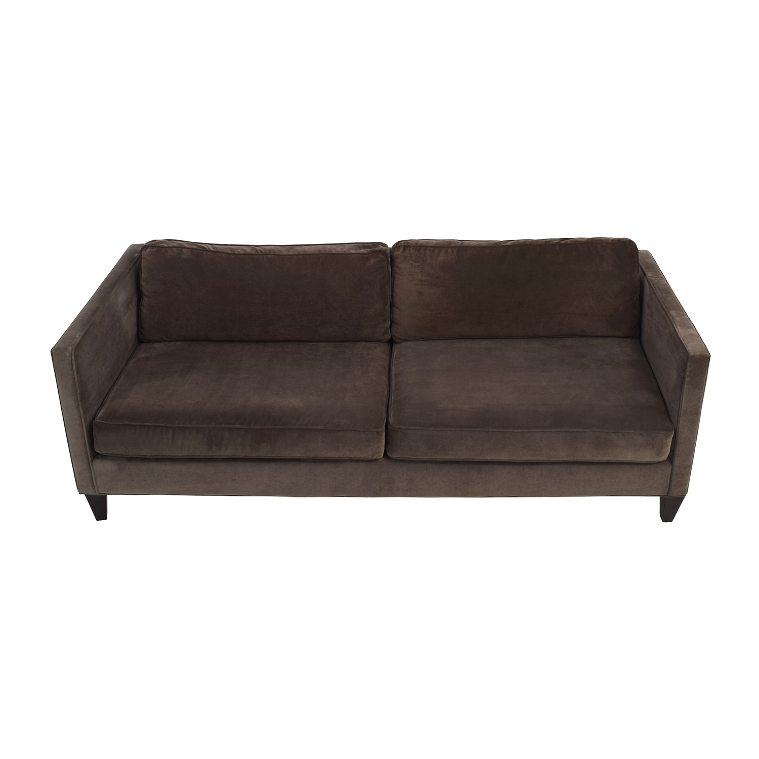 ... Rowe Furniture Rowe Furniture Mitchell Brown Sofa Used ...