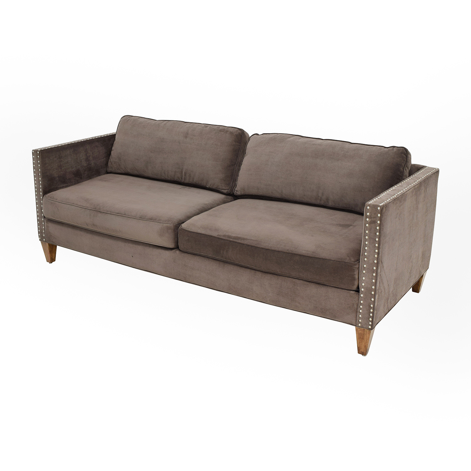 83% OFF Rowe Rowe Brown Studded Mitchell Sofa Sofas