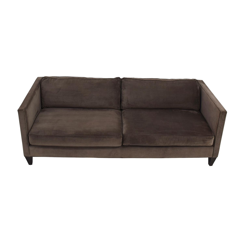 Rowe Furniture Rowe Furniture Mitchell Brown Two Cushion Sofa coupon