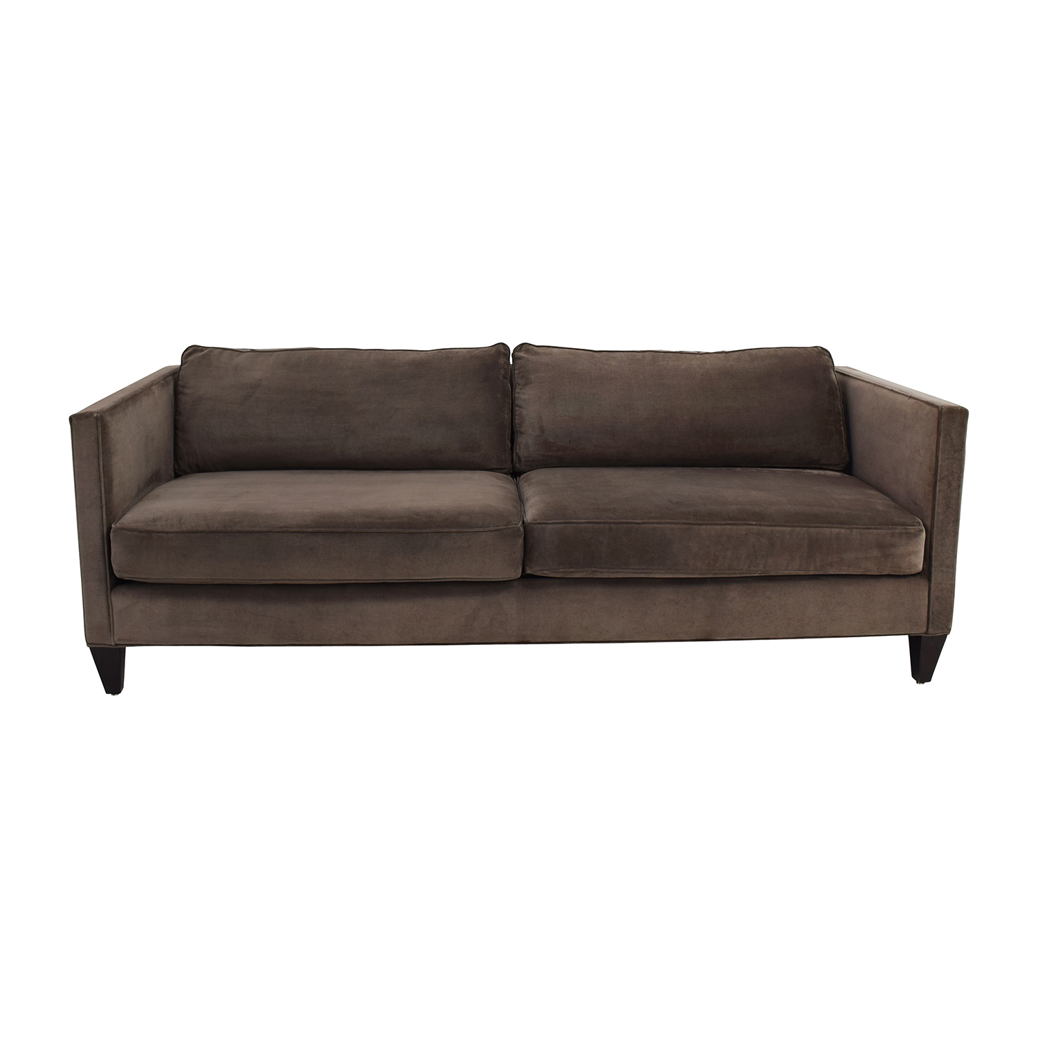 Rowe Furniture Rowe Furniture Mitchell Brown Two Cushion Sofa discount
