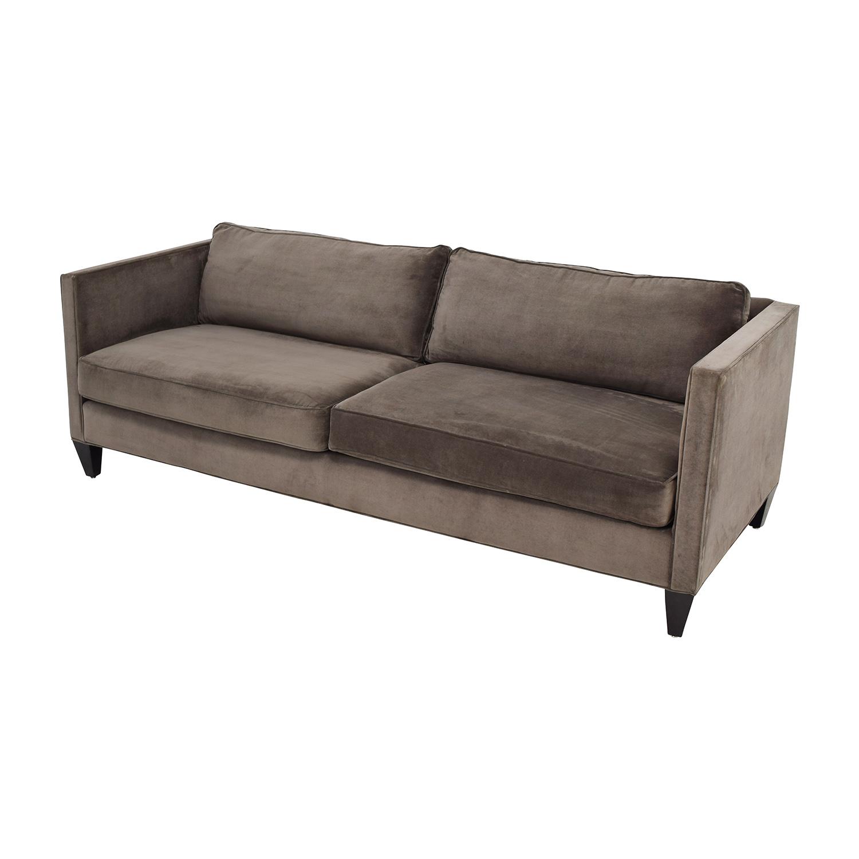 77 Off Rowe Furniture Rowe Furniture Mitchell Brown Two Cushion Sofa Sofas