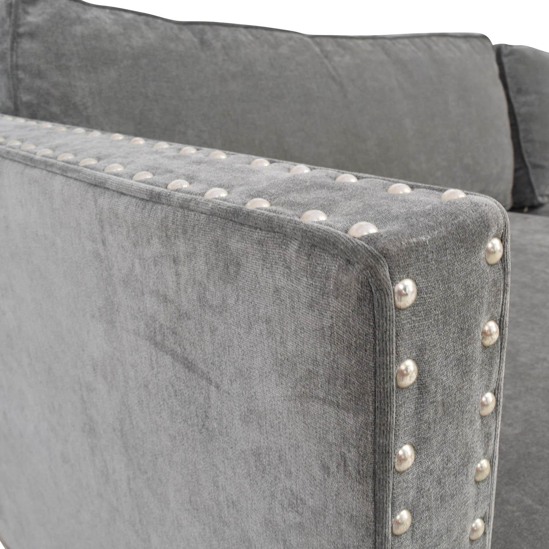 Groovy 54 Off Rowe Furniture Rowe Furniture Mitchell Grey Studded Sofa Sofas Machost Co Dining Chair Design Ideas Machostcouk