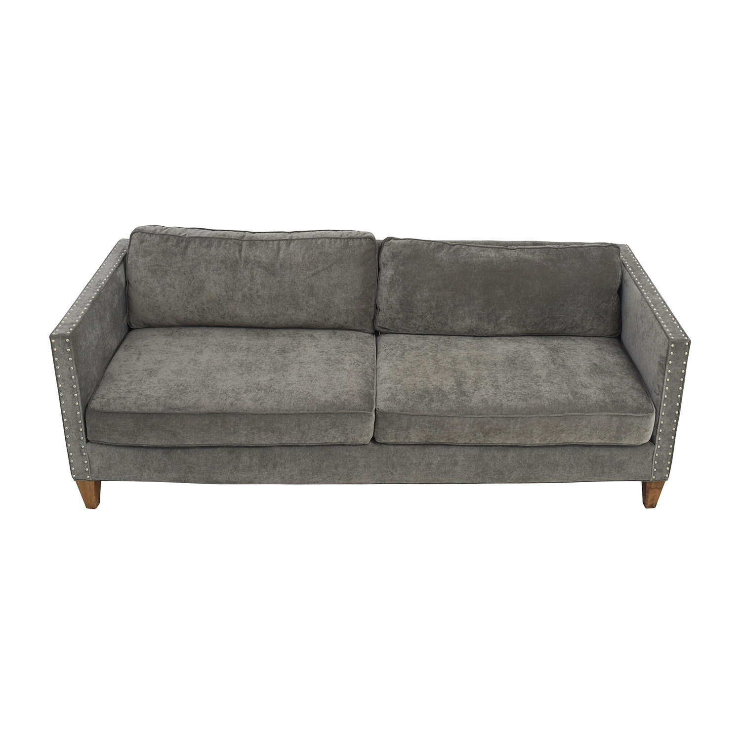 Exceptional Rowe Furniture Rowe Furniture Mitchell Grey Studded Sofa Sofas