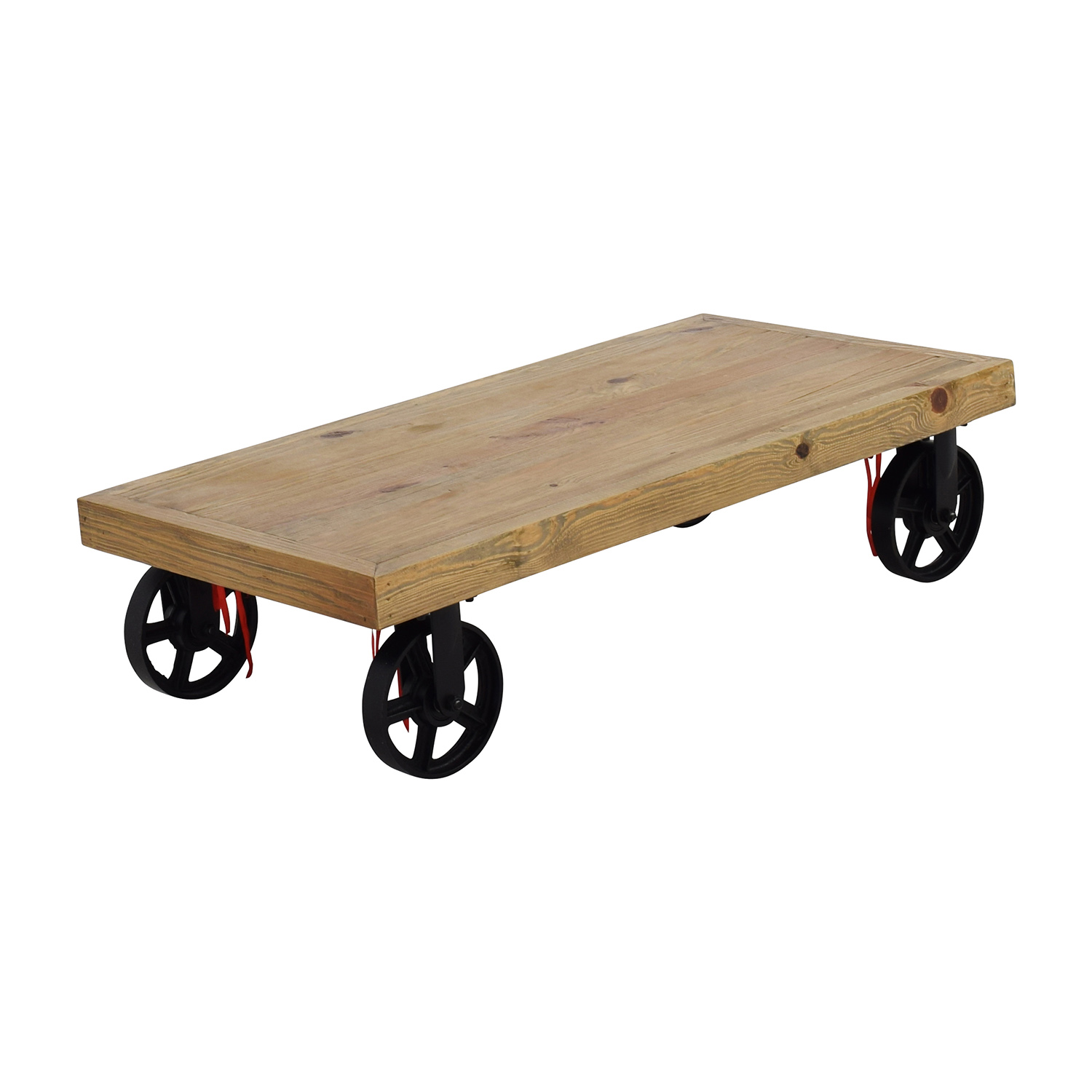 68 Off Rustic Cart Coffee Table Tables