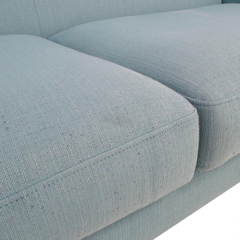 buy Midcentury Modern Tufted Light Teal Loveseat Sofa Sofas