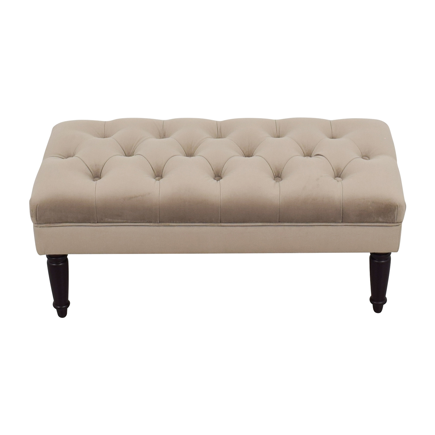 buy  Grey Tufted Ottoman online