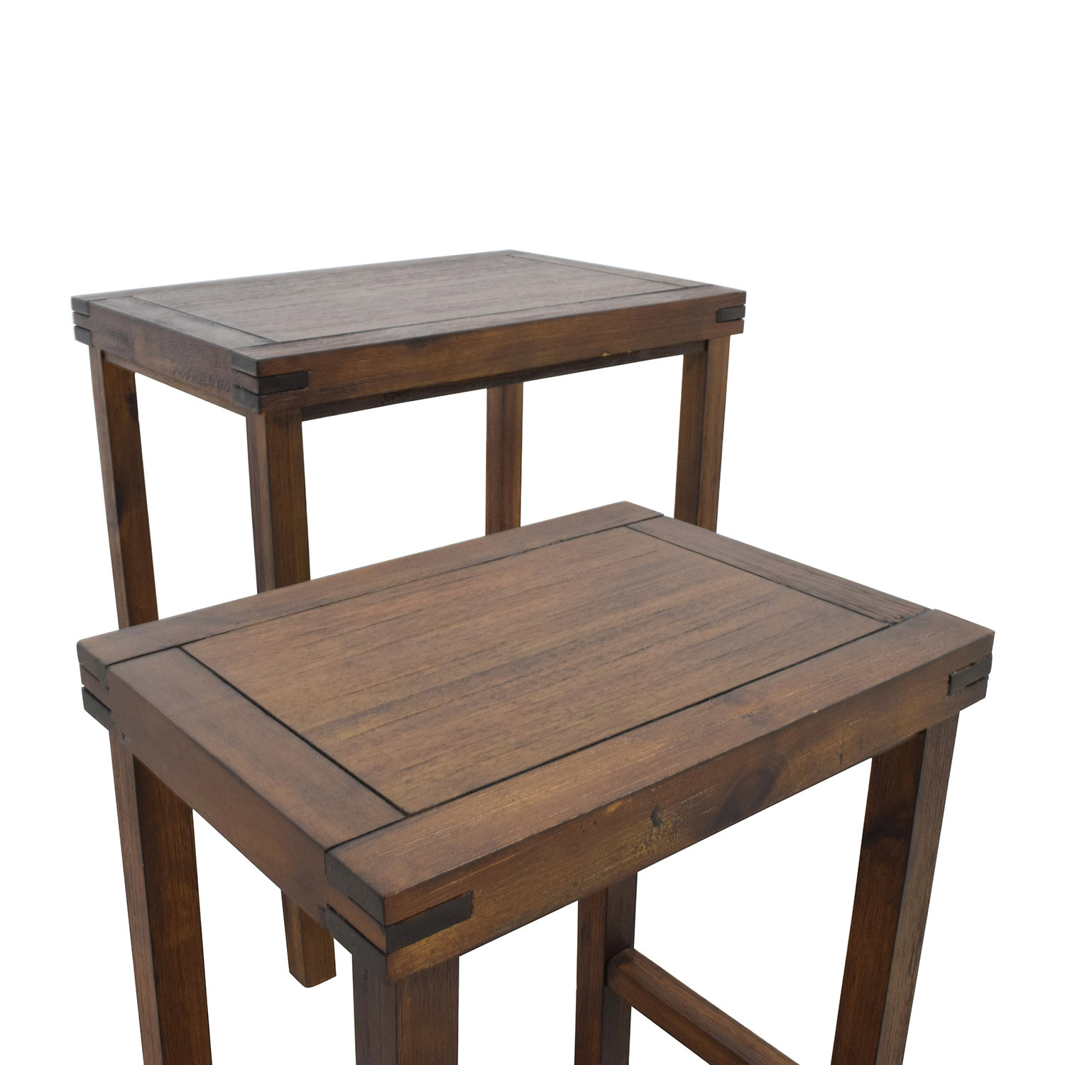 ... Two Nesting Espresso Side Tables Discount
