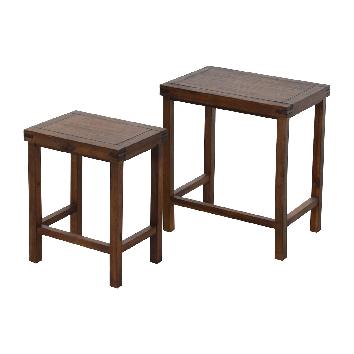 ... Two Nesting Espresso Side Tables Dimensions ...