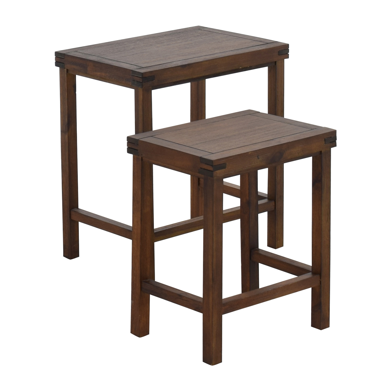 ... Two Nesting Espresso Side Tables Second Hand ...
