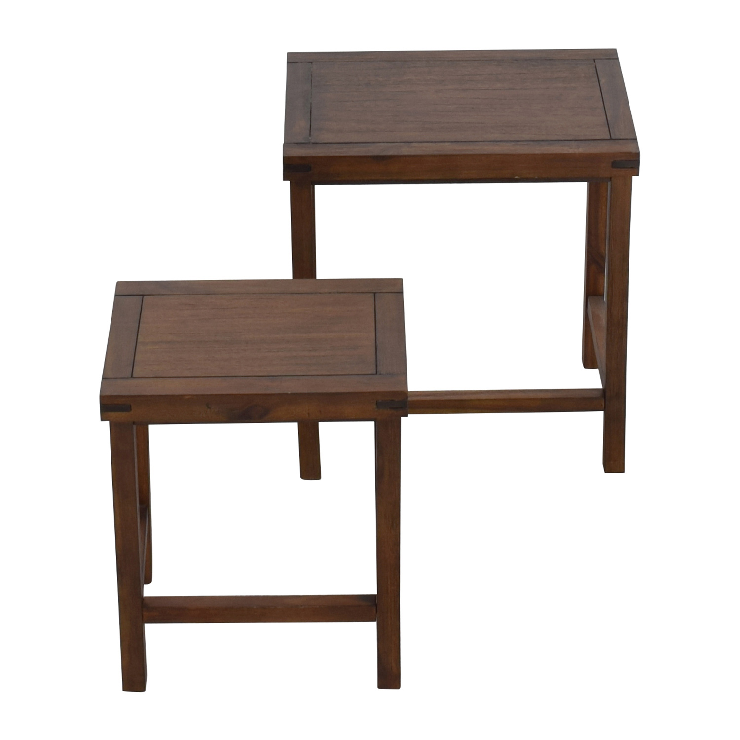 Two Nesting Espresso Side Tables